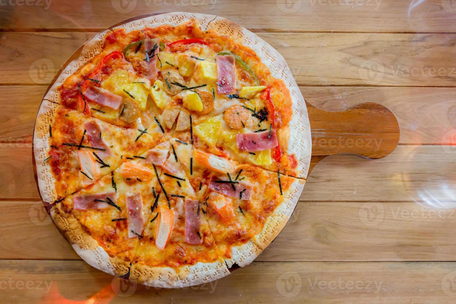 pizza havaiana caseira foto