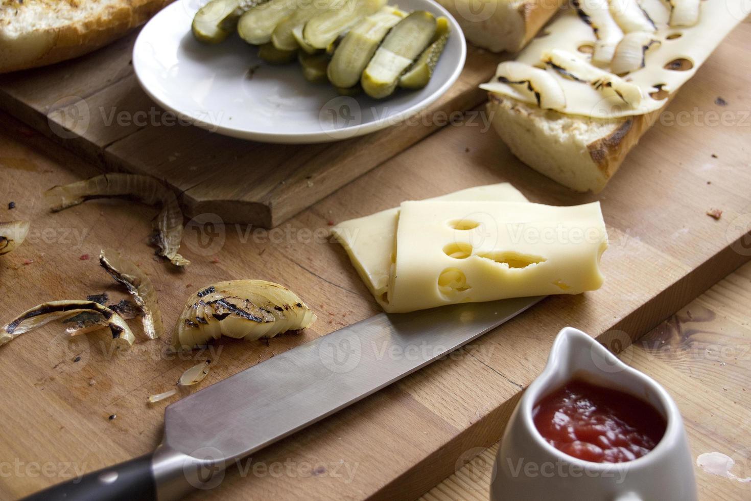 ingredientes do sanduíche foto