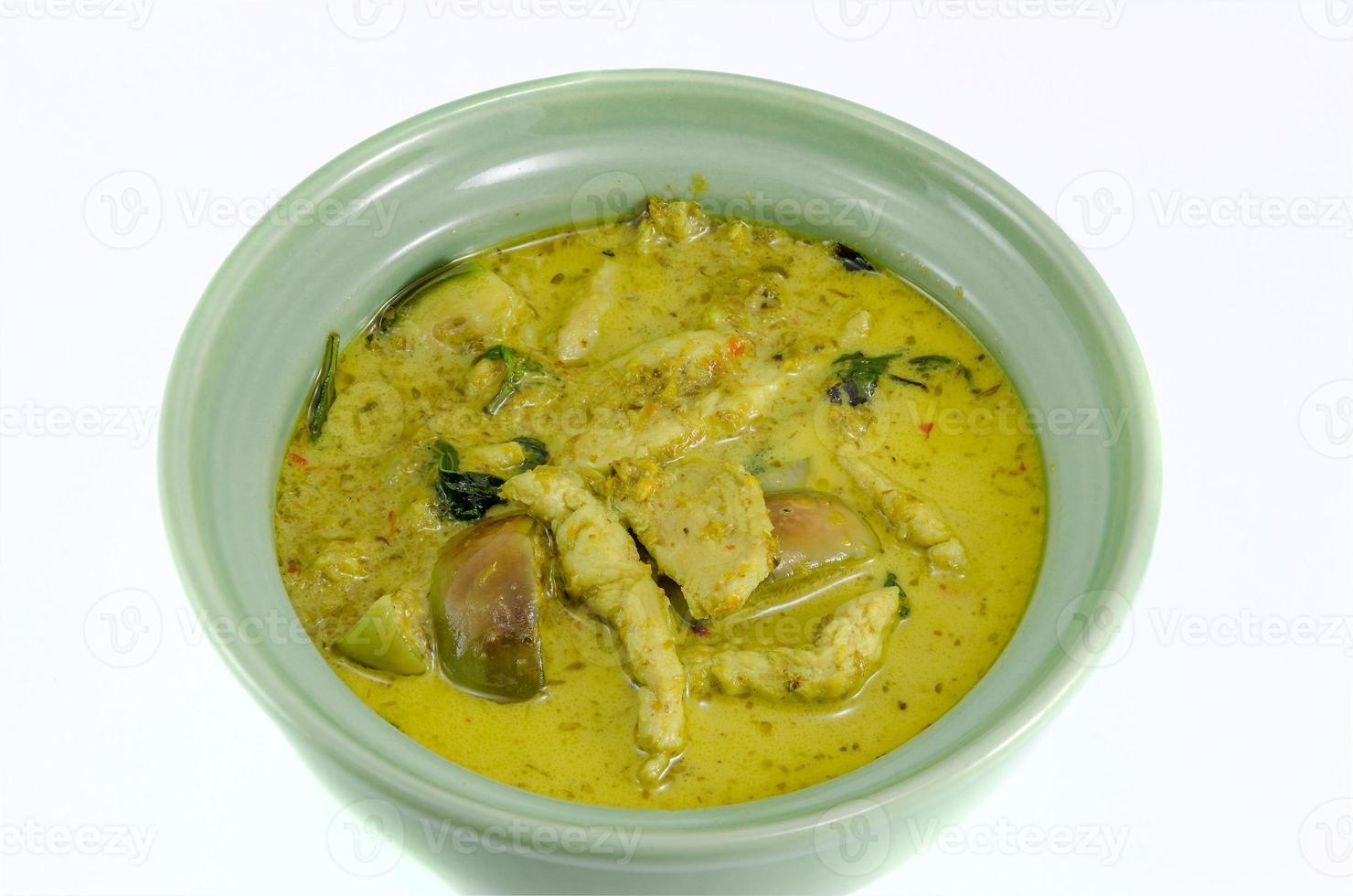 curry verde com frango foto