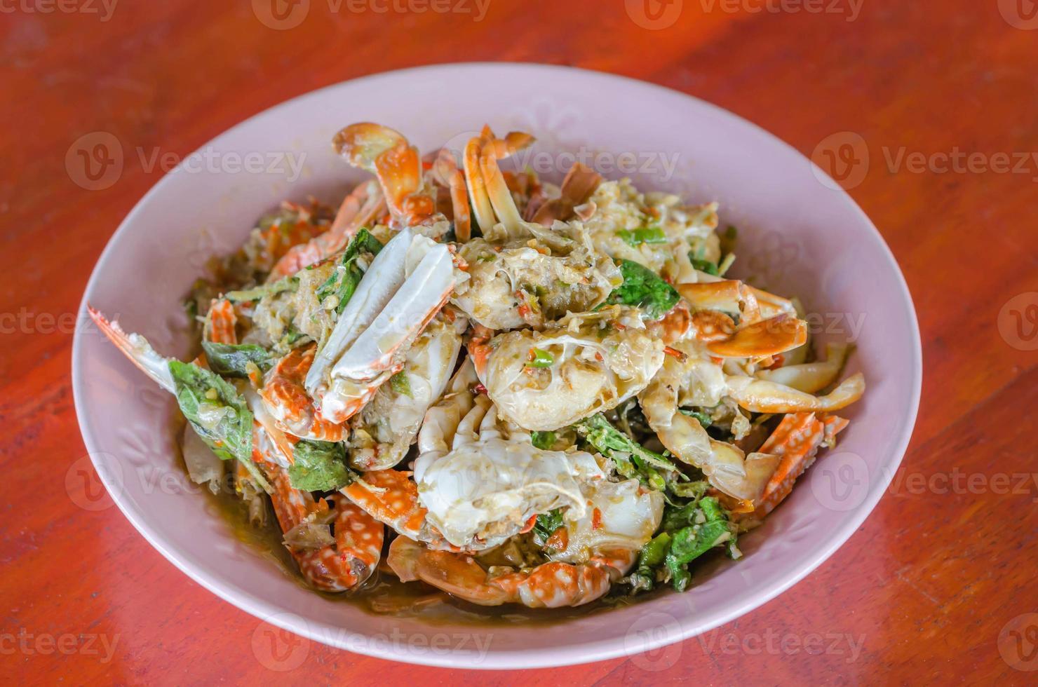 mexa o caranguejo frito foto