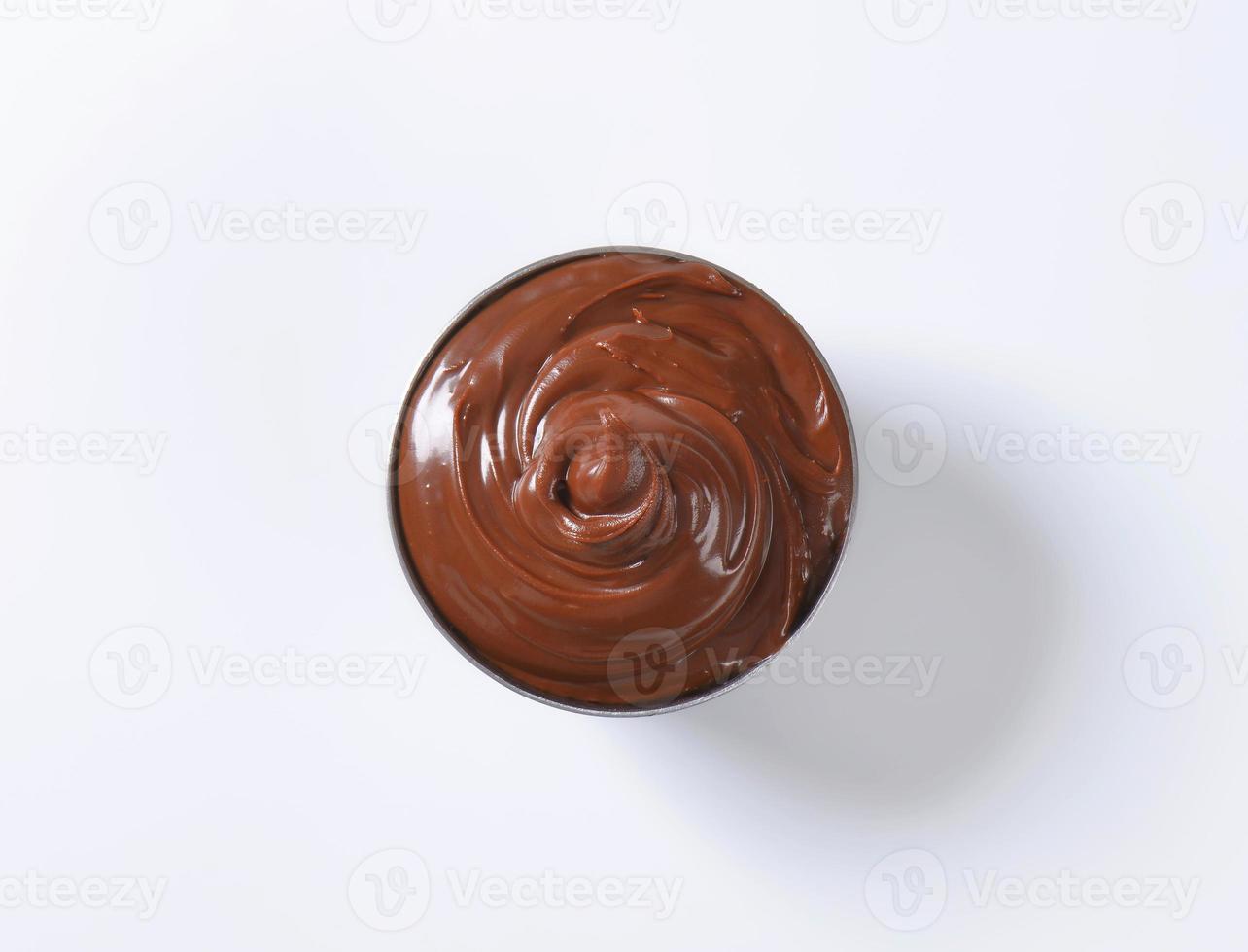 propagação de chocolate de avelã foto