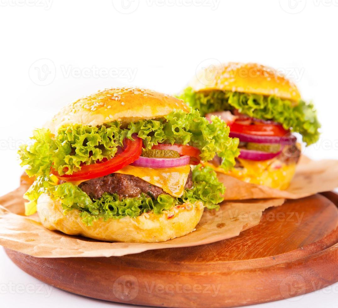 grandes hambúrgueres foto