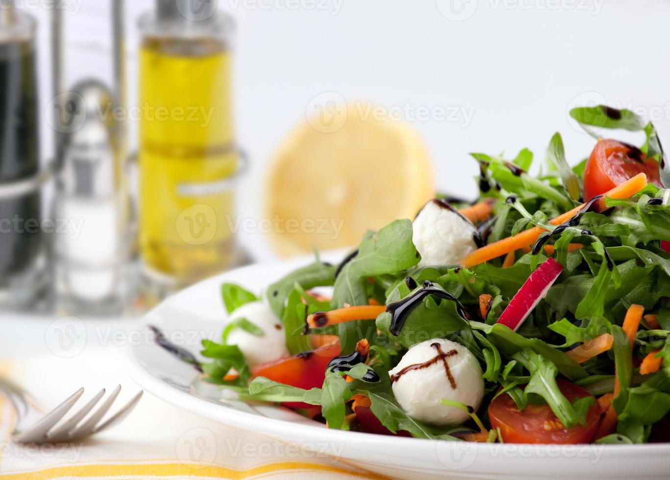 salada verde mista foto