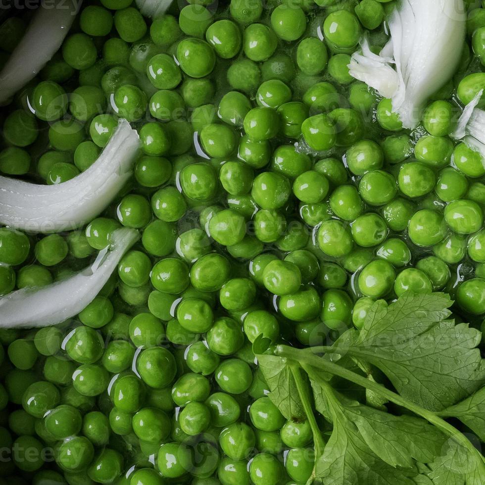 receita de ervilhas. foto
