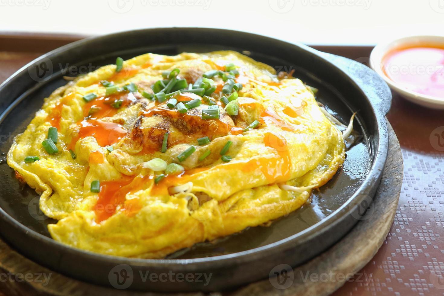 receita de omelete de ostras fritas foto