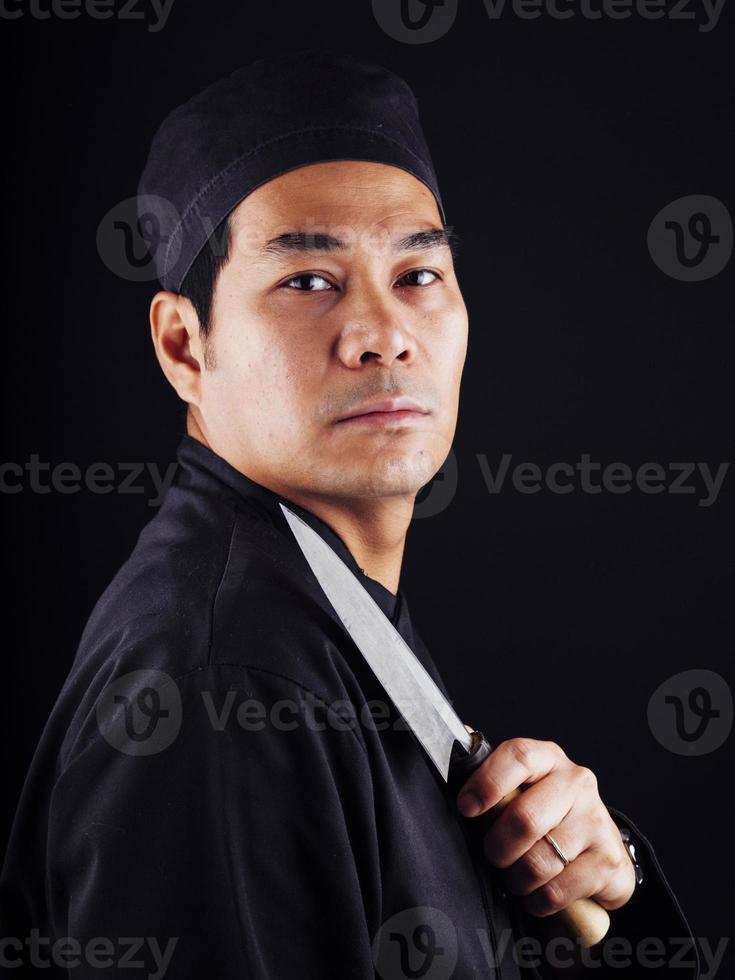 chef de sushi foto