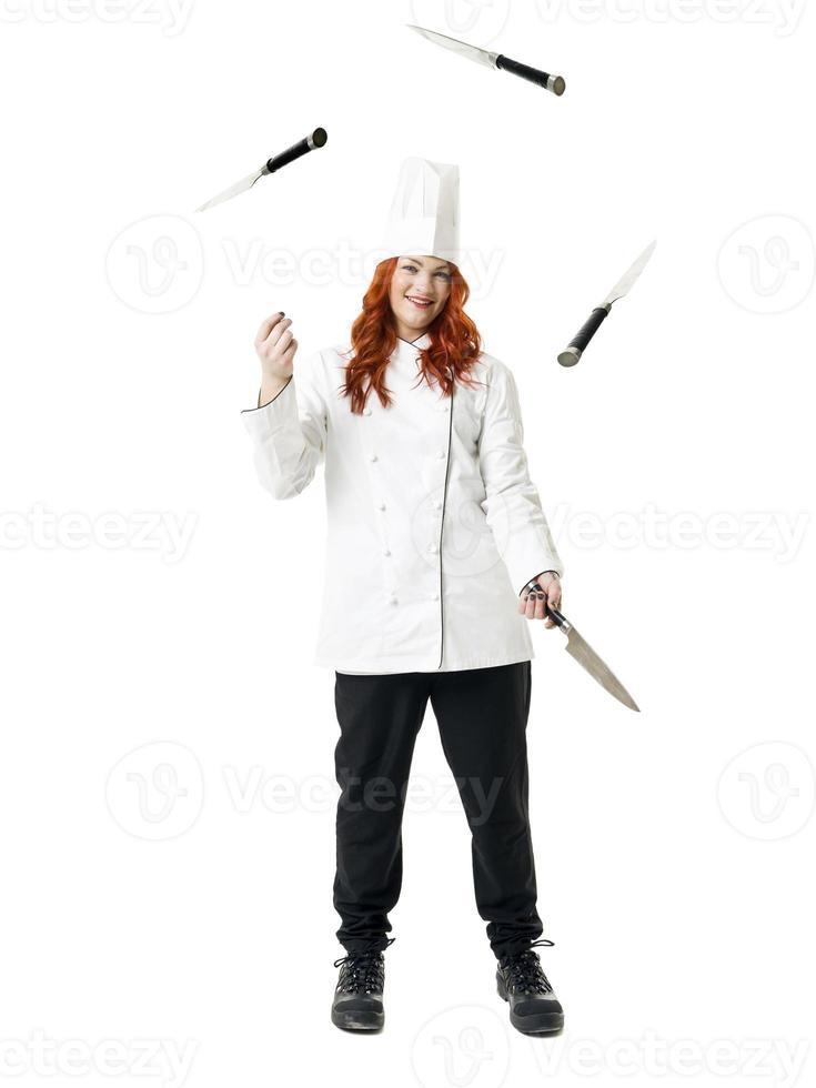 chef de malabarismo foto