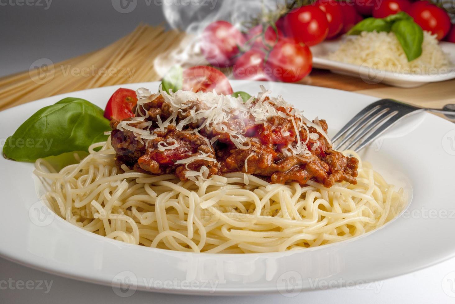 espaguete à bolonhesa foto