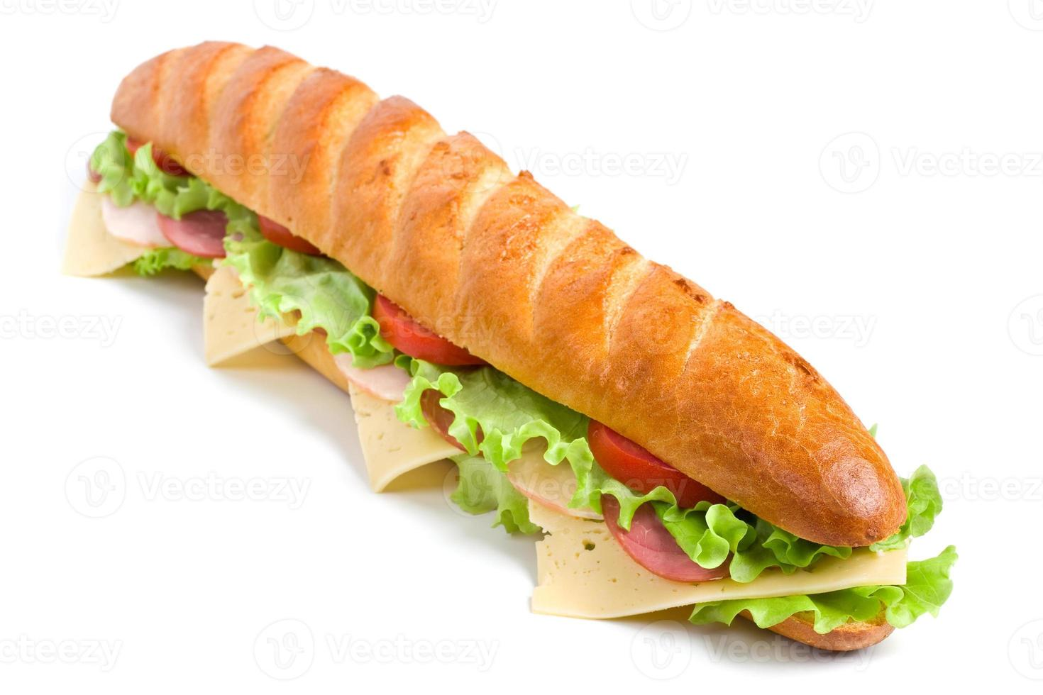 sanduíche de baguete longo foto
