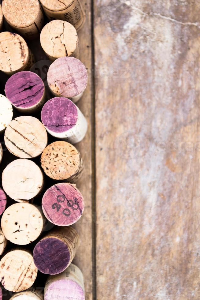 fundo de rolhas de vinho foto
