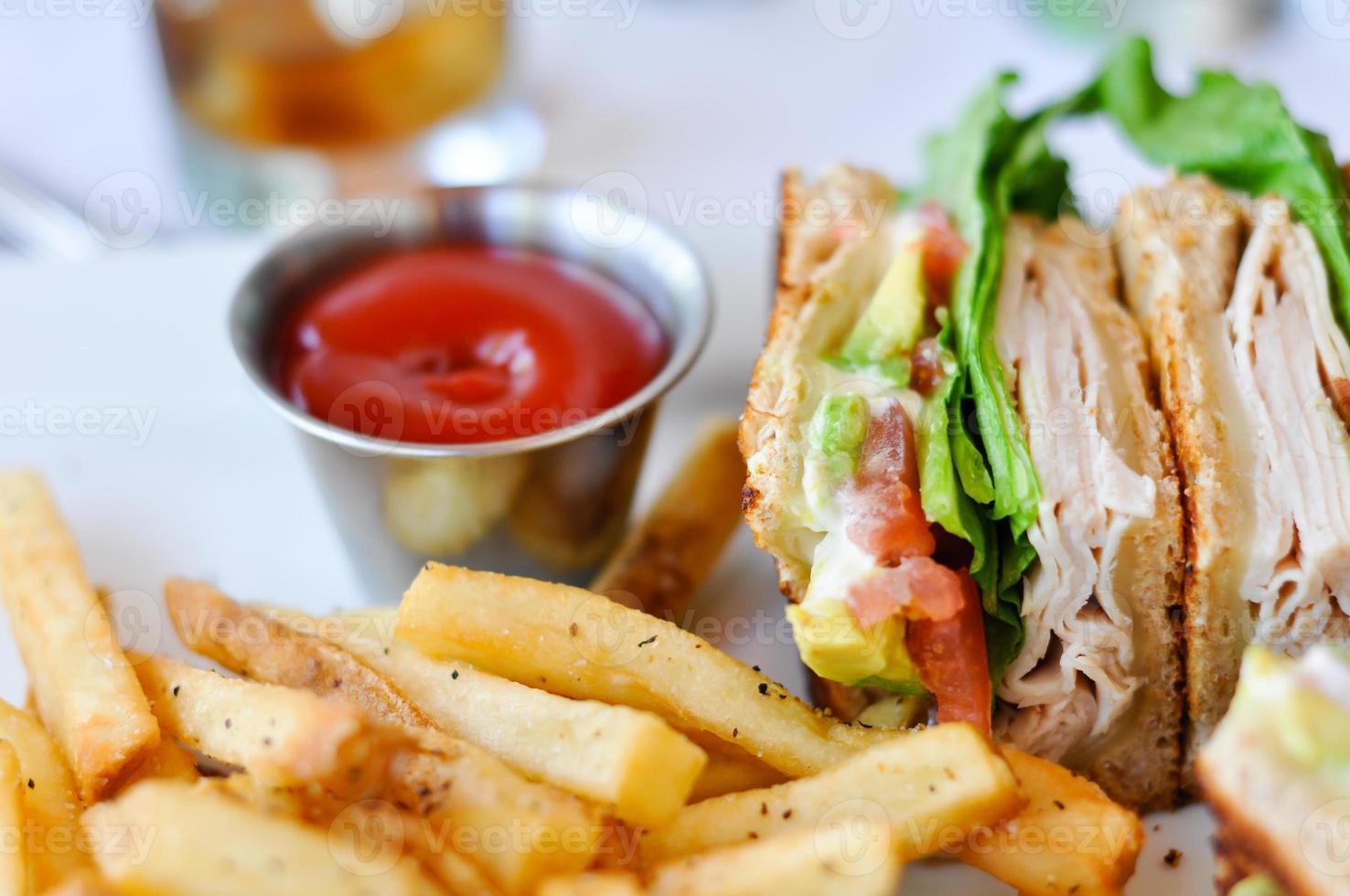 sanduíche de peru foto