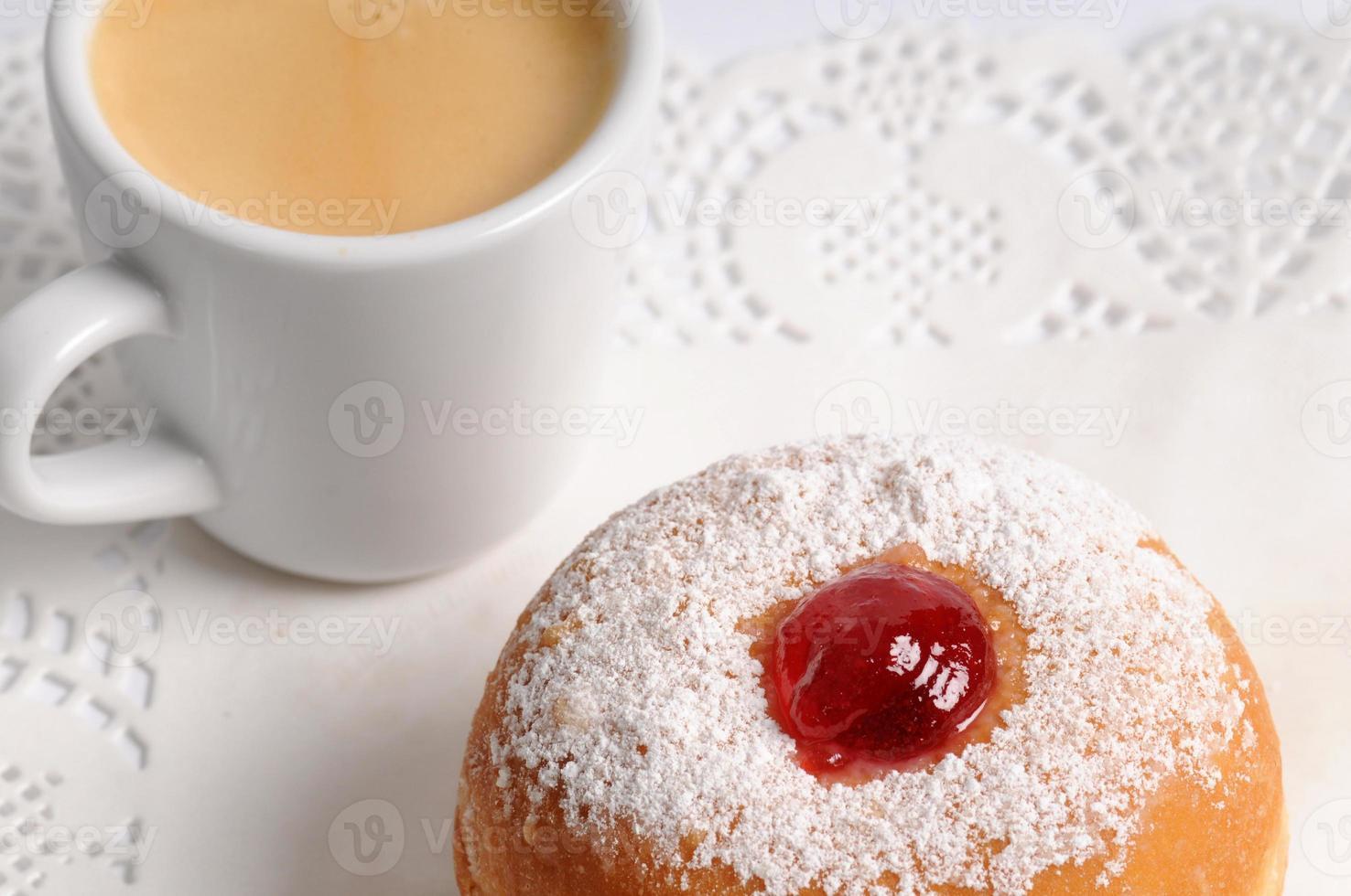 rosquinha e café foto