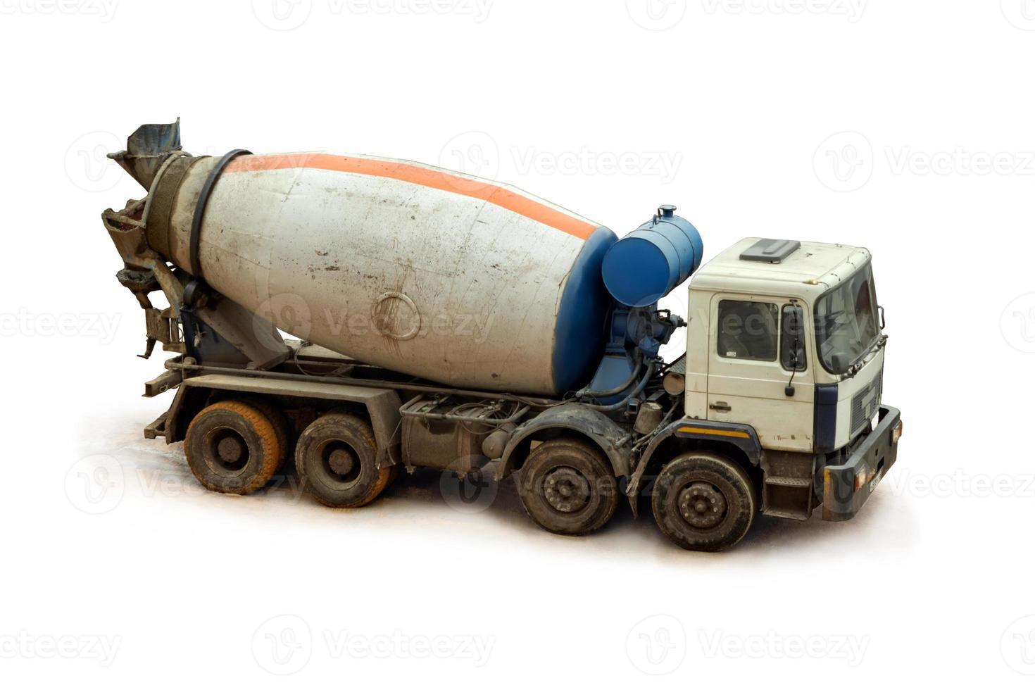 caminhão betoneira. foto