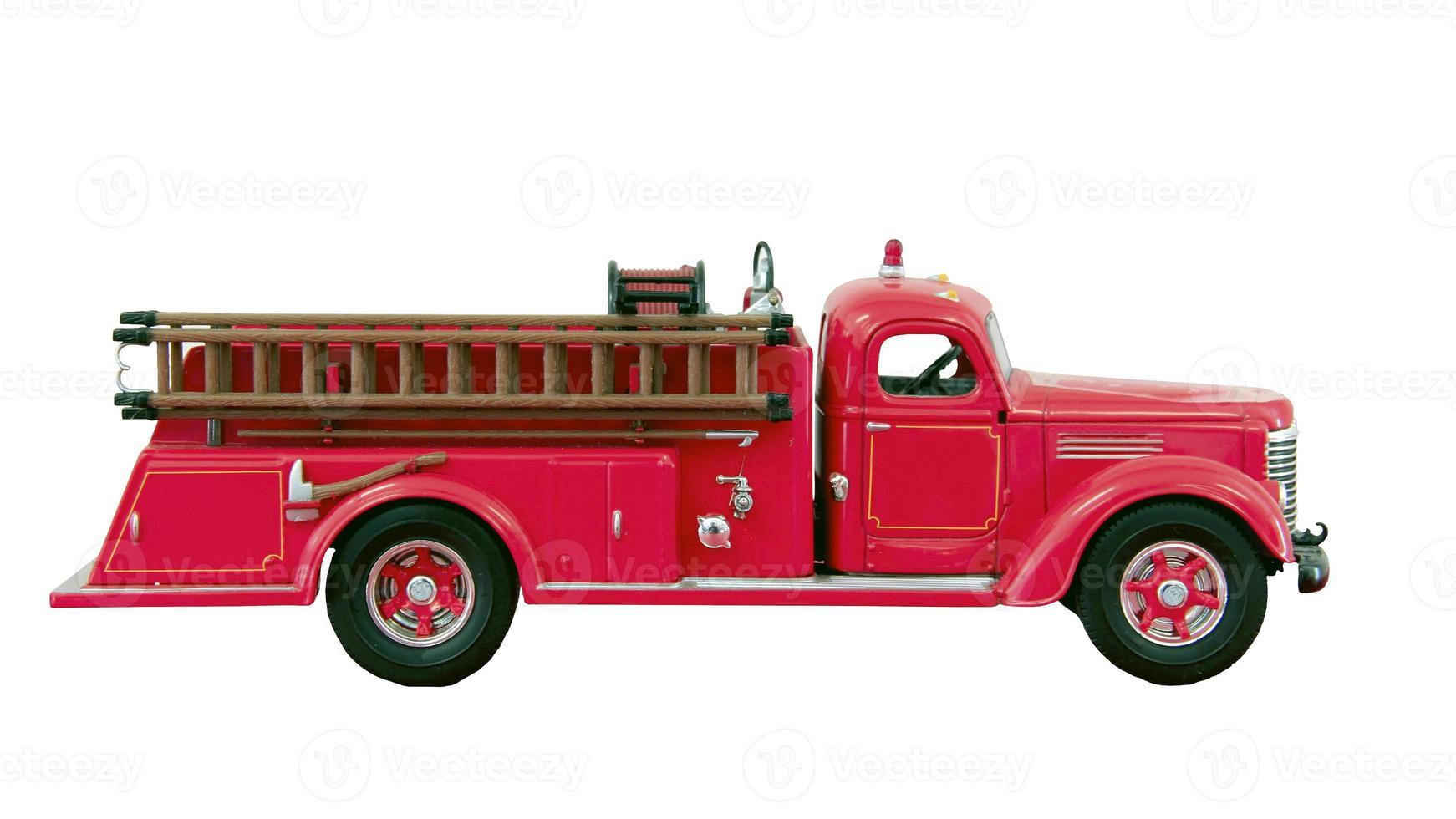 caminhão de bombeiros gancho e escada foto