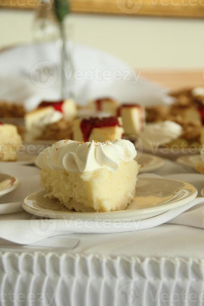 fatias de torta elegantes foto