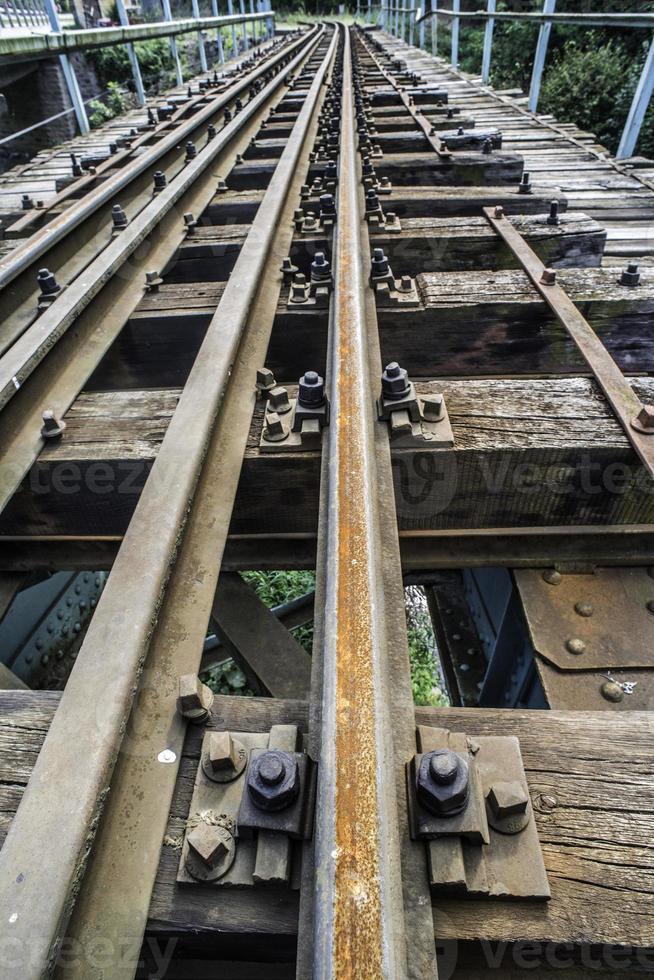 Cruzamento de linha férrea. foto