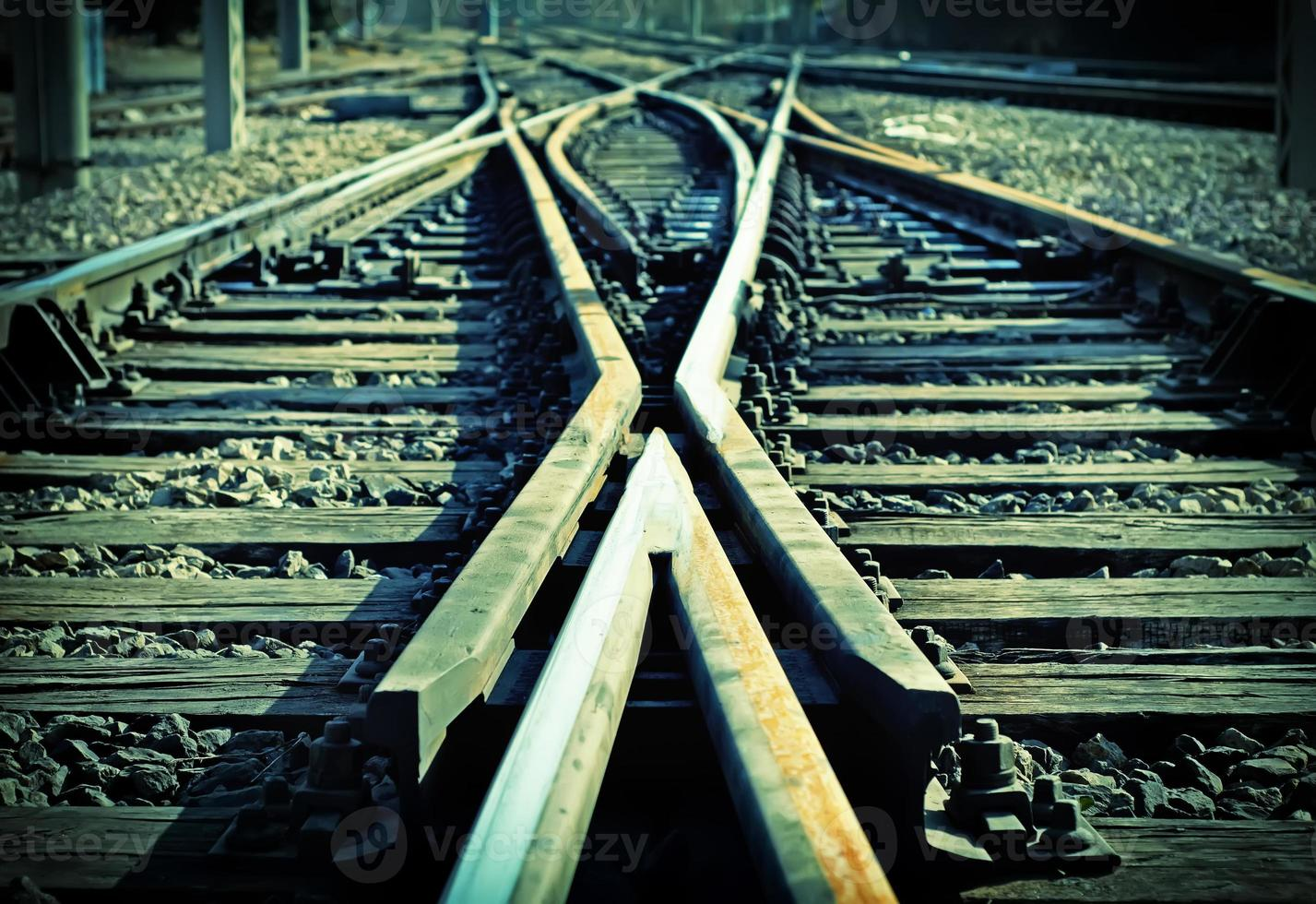 Cruzamento de linha férrea foto
