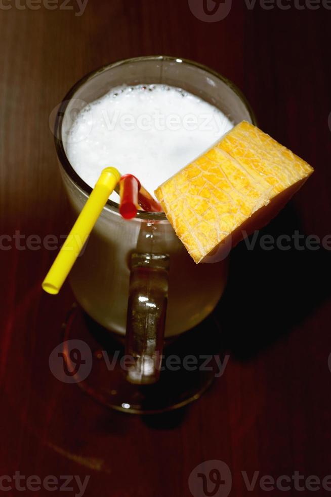 suco de melão fresco foto