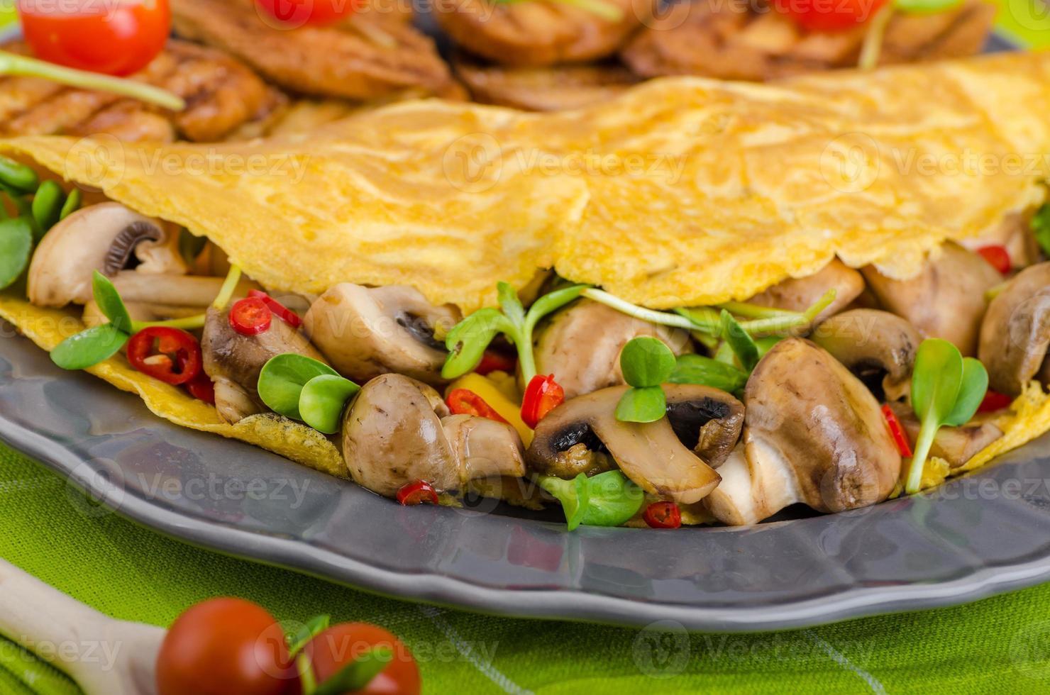 omelete vegetariana, comer limpo foto