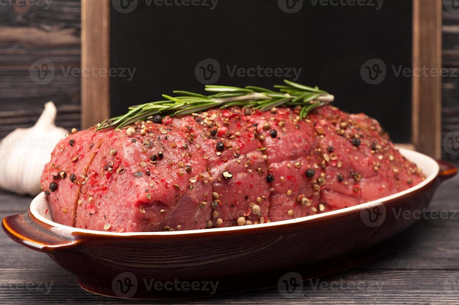 closeup de carne assada foto