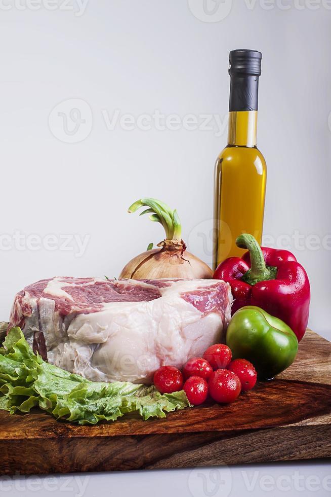 carne, bife de nova york foto