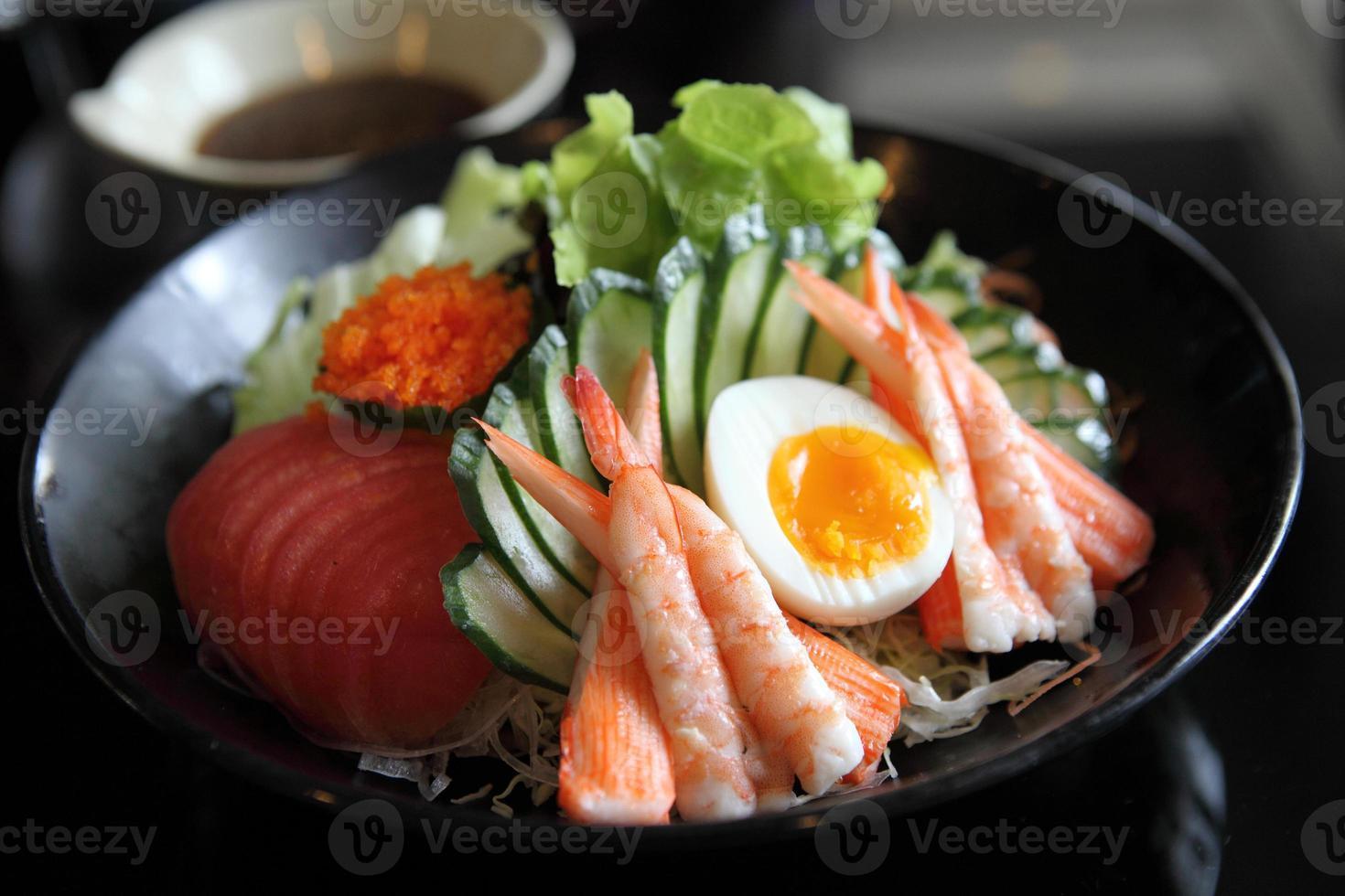 salada estilo japonês foto