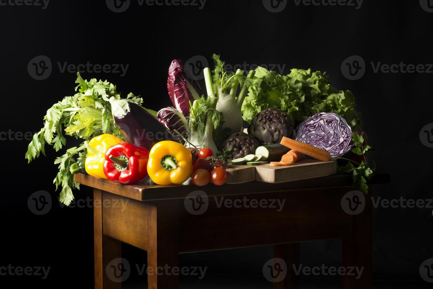 natureza morta com legumes foto