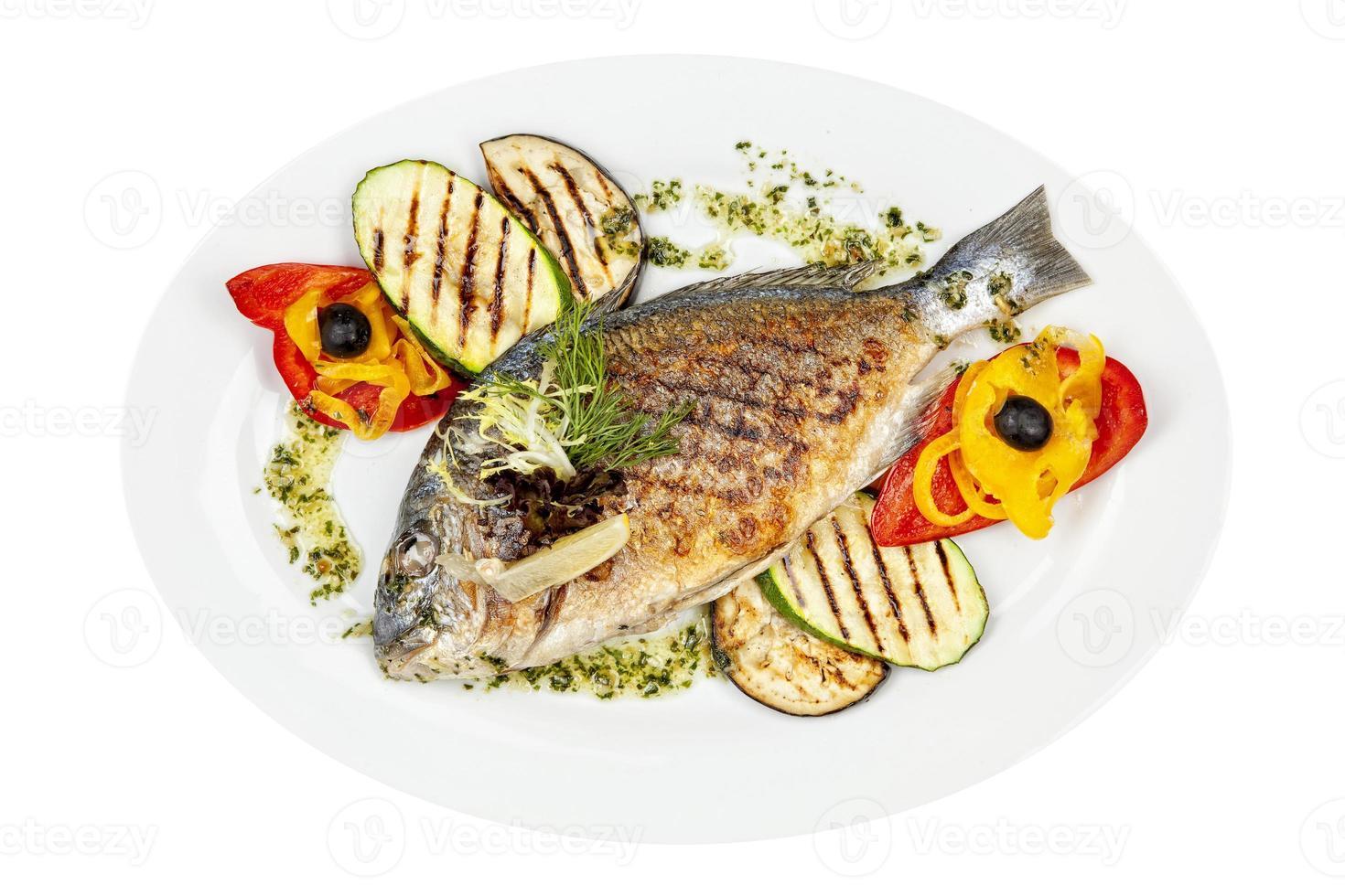 peixe grelhado foto