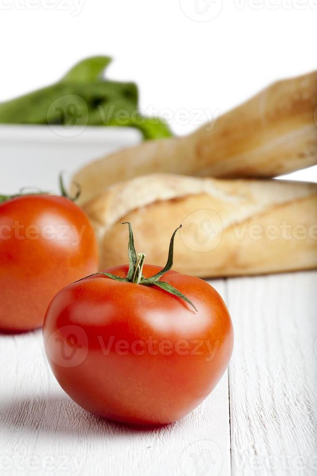 ingredientes do sanduíche cru foto