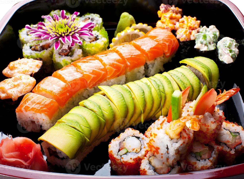 rolos de sushi. foto