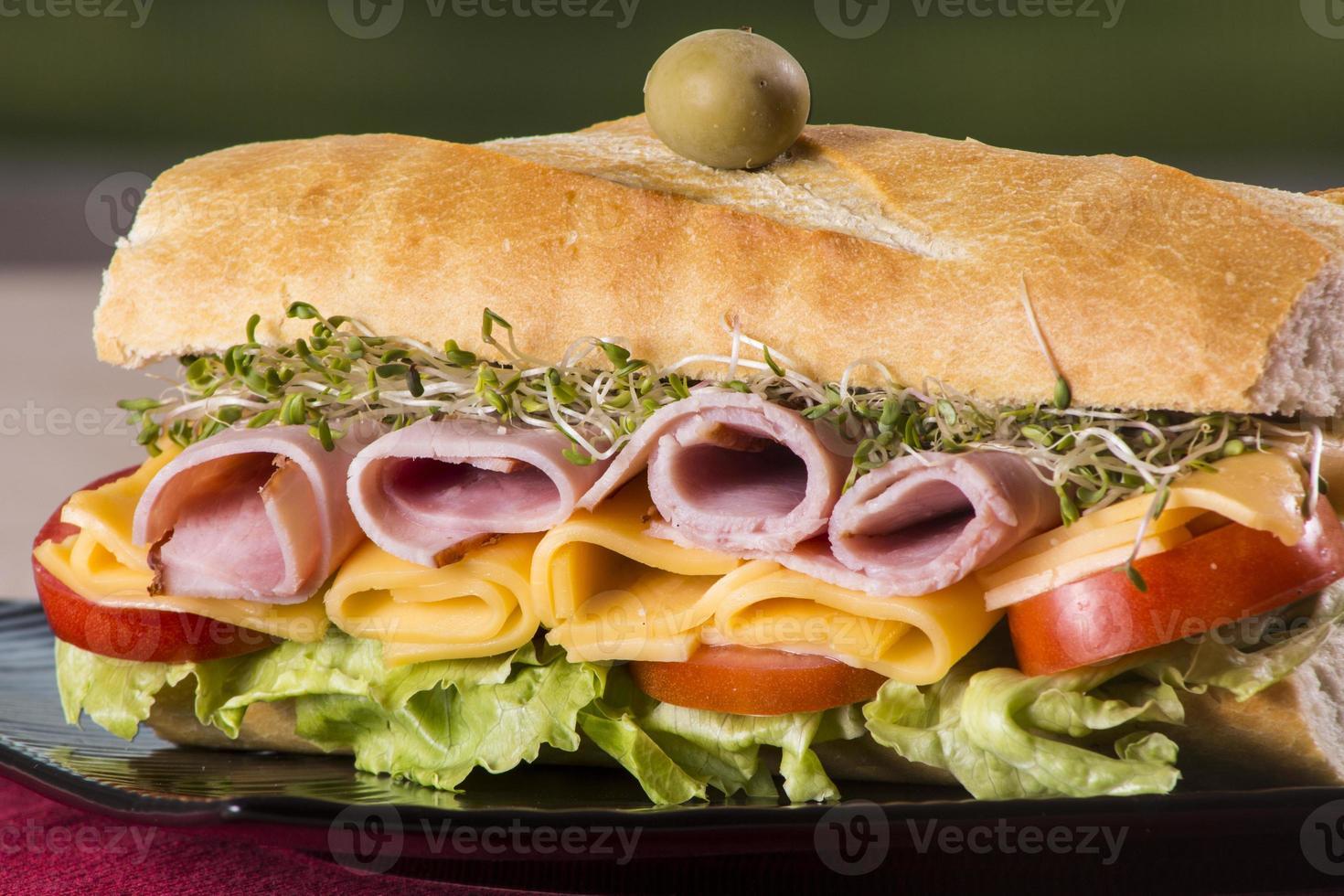 sanduíche submarino foto