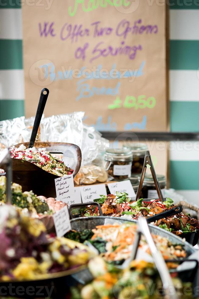 deliciosas comidas no restaurante. foto