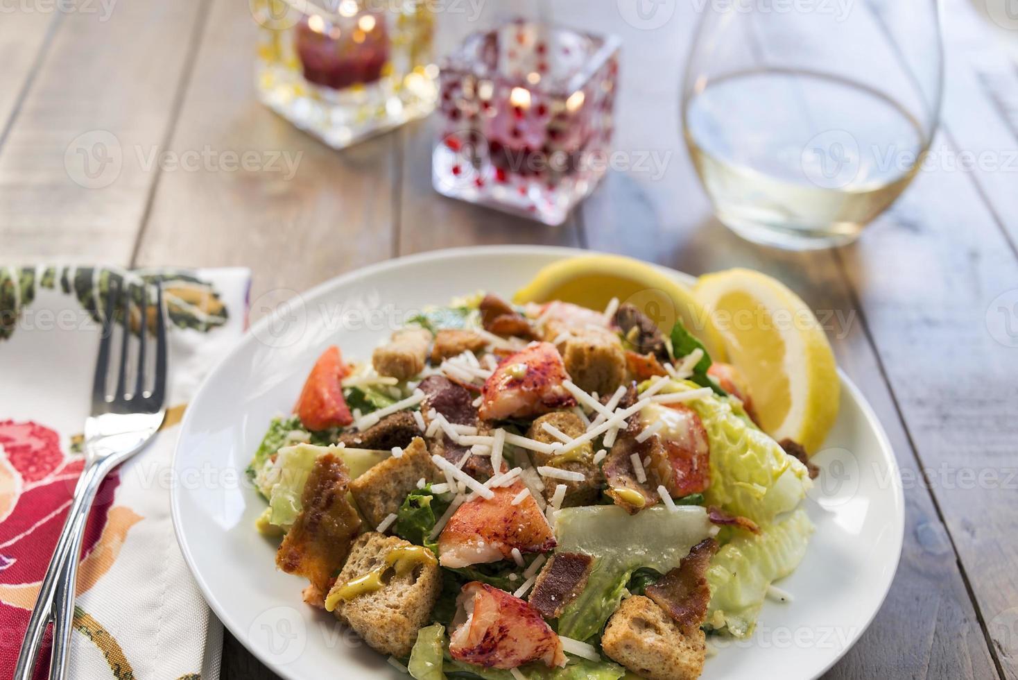 salada caesar de lagosta foto