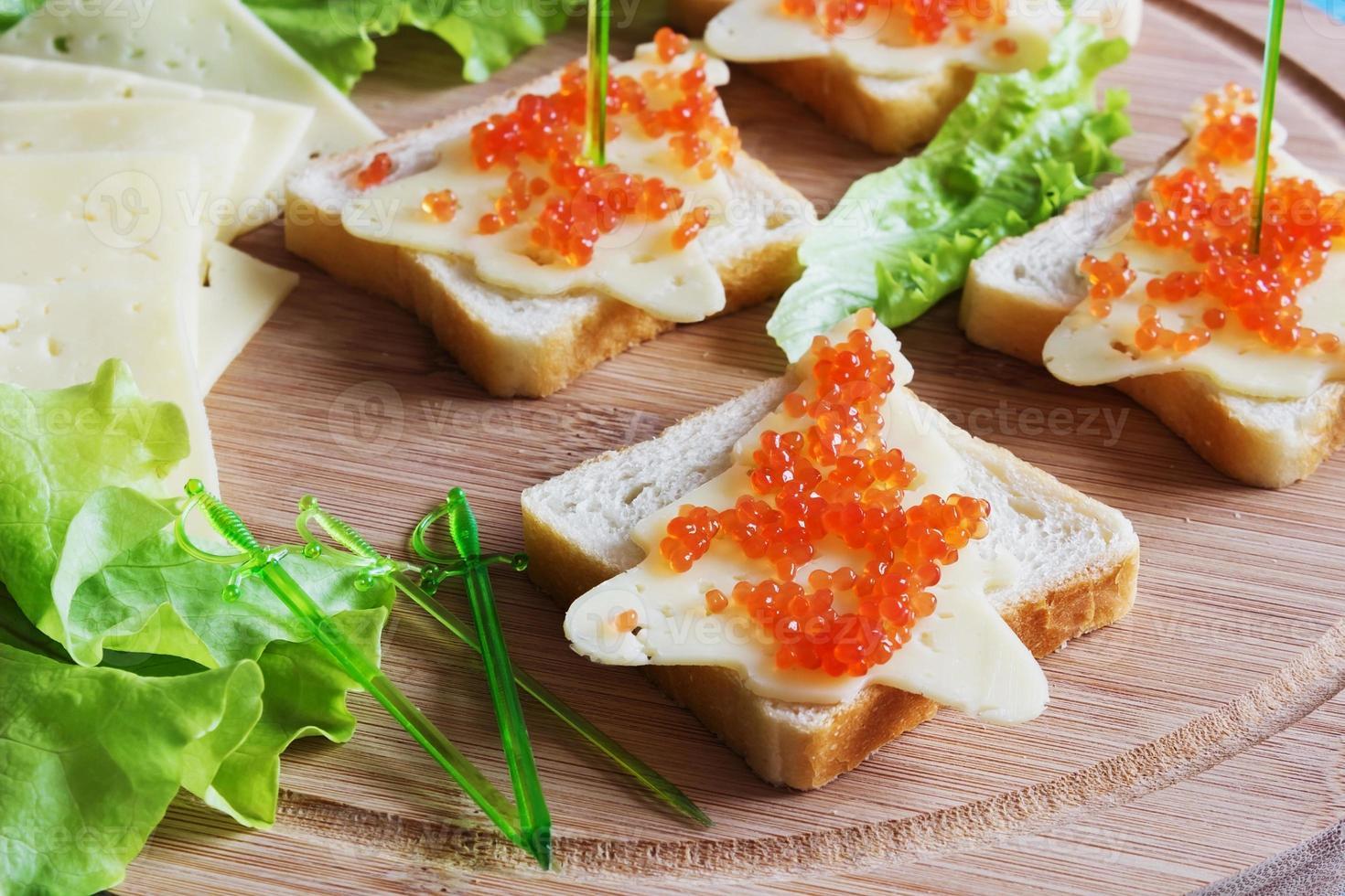 sanduíches de natal foto