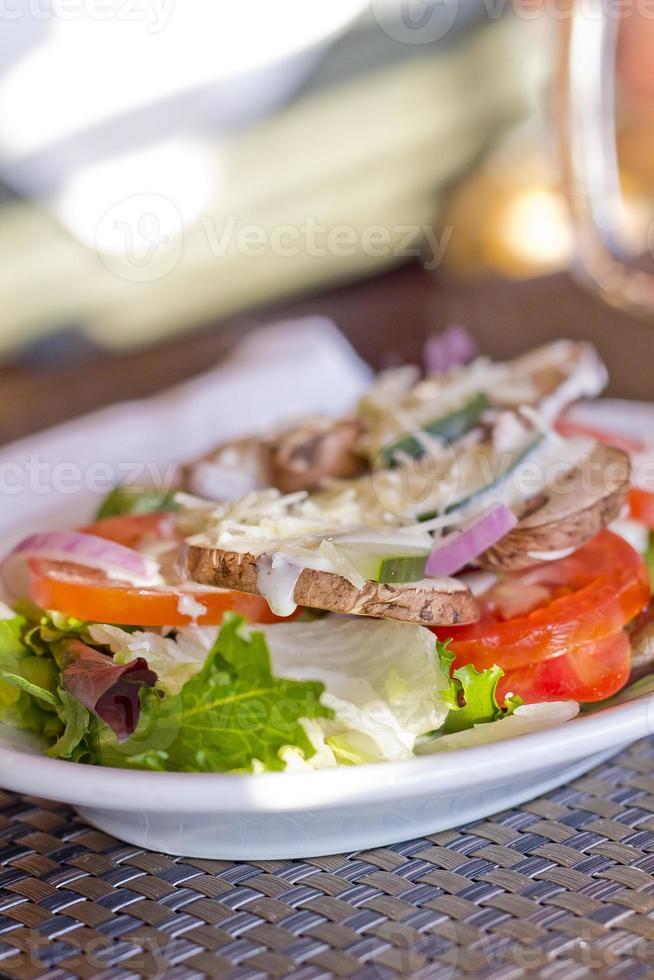 fazenda de salada de legumes foto