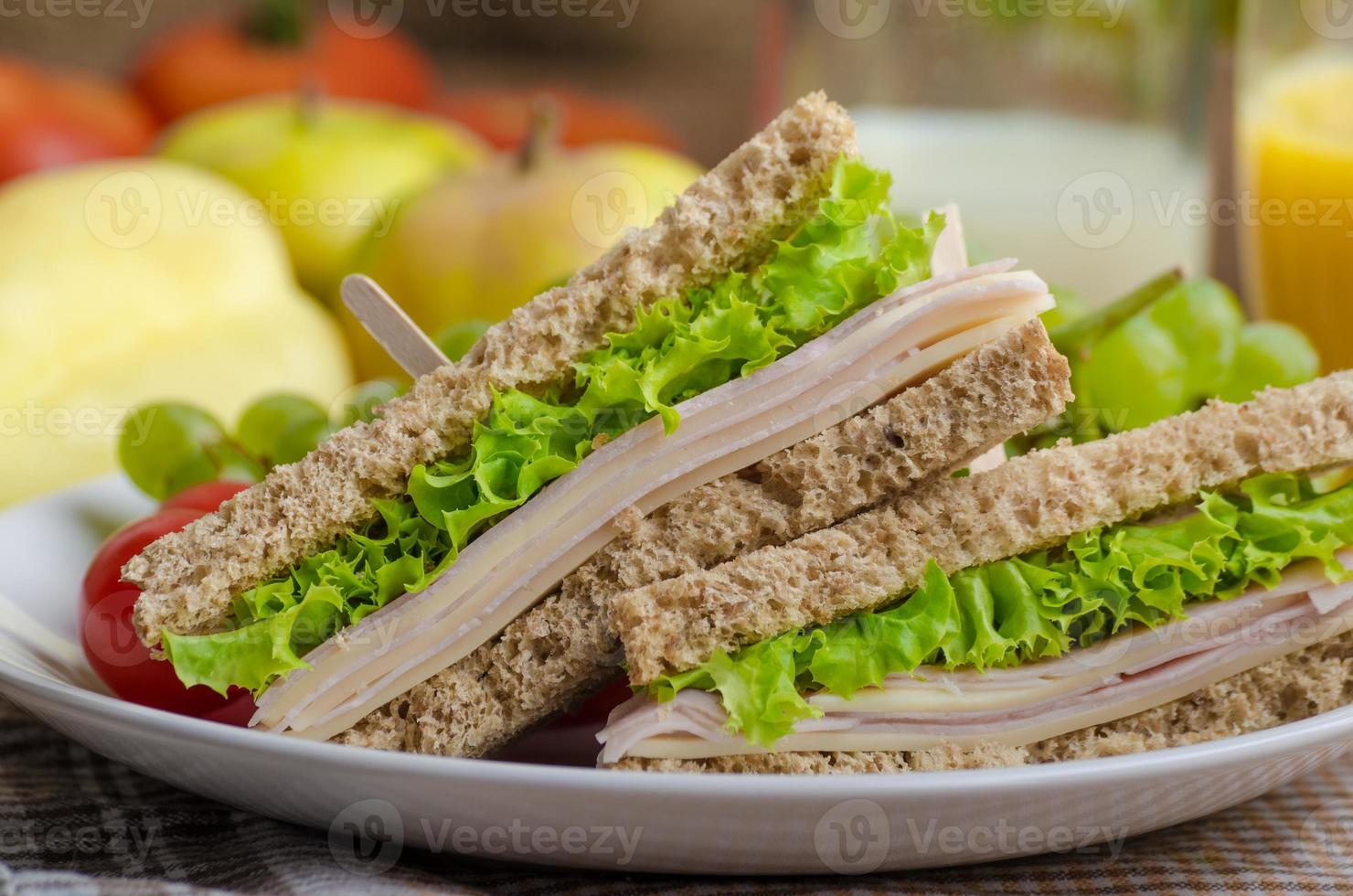 sanduíche de volta à escola foto