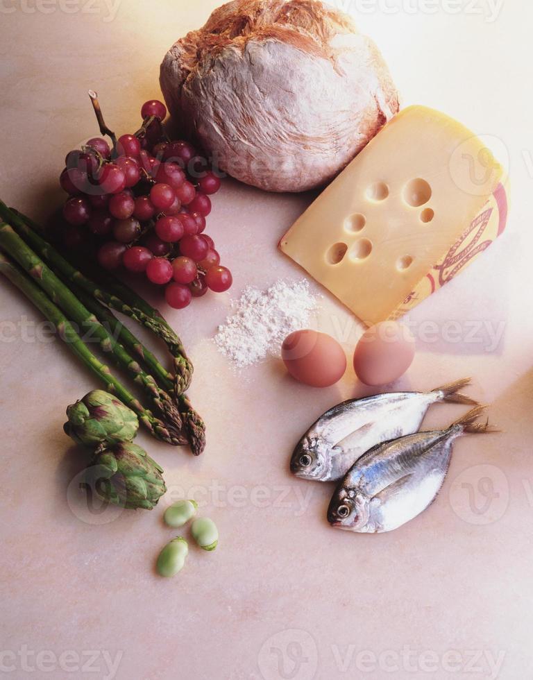 conjunto de alimentos para cozinhar foto