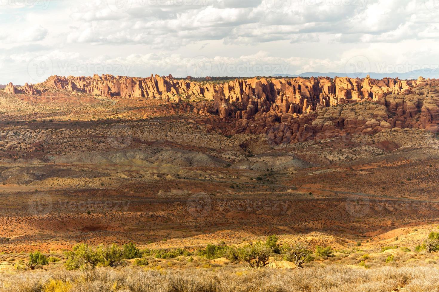 paisagem do parque nacional de arcos, eua foto