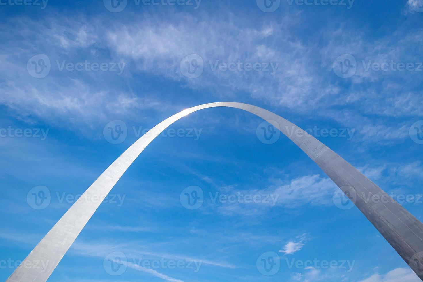 seção superior do arco st louis foto