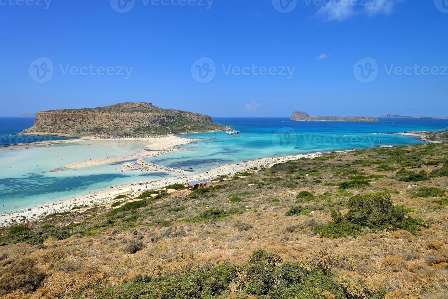 panorama de balos lagoonon creta, grécia foto