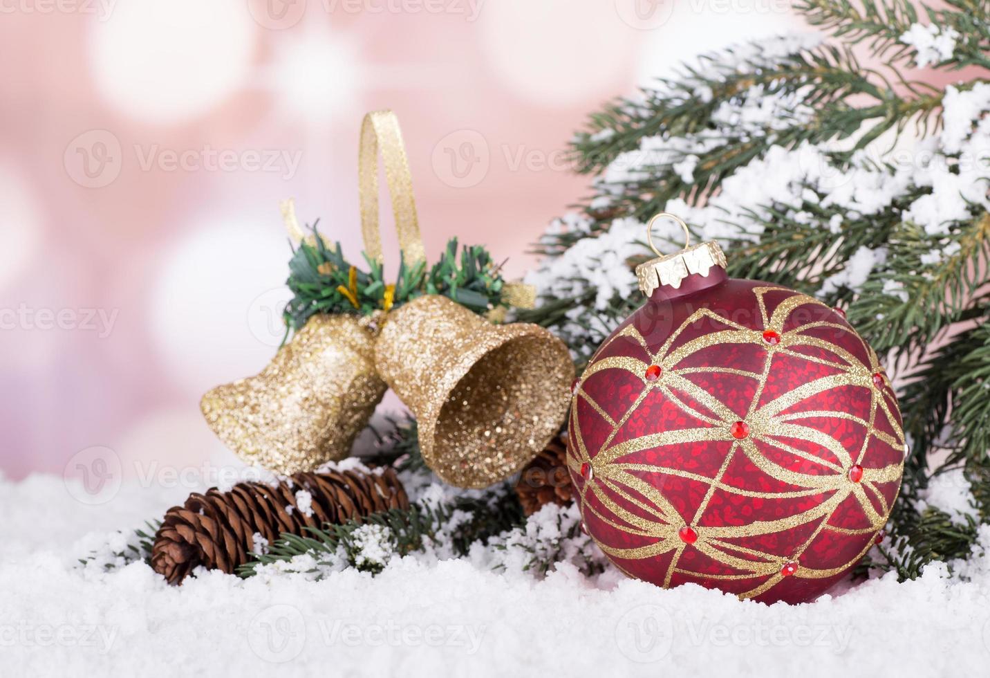 bola de natal colorida foto