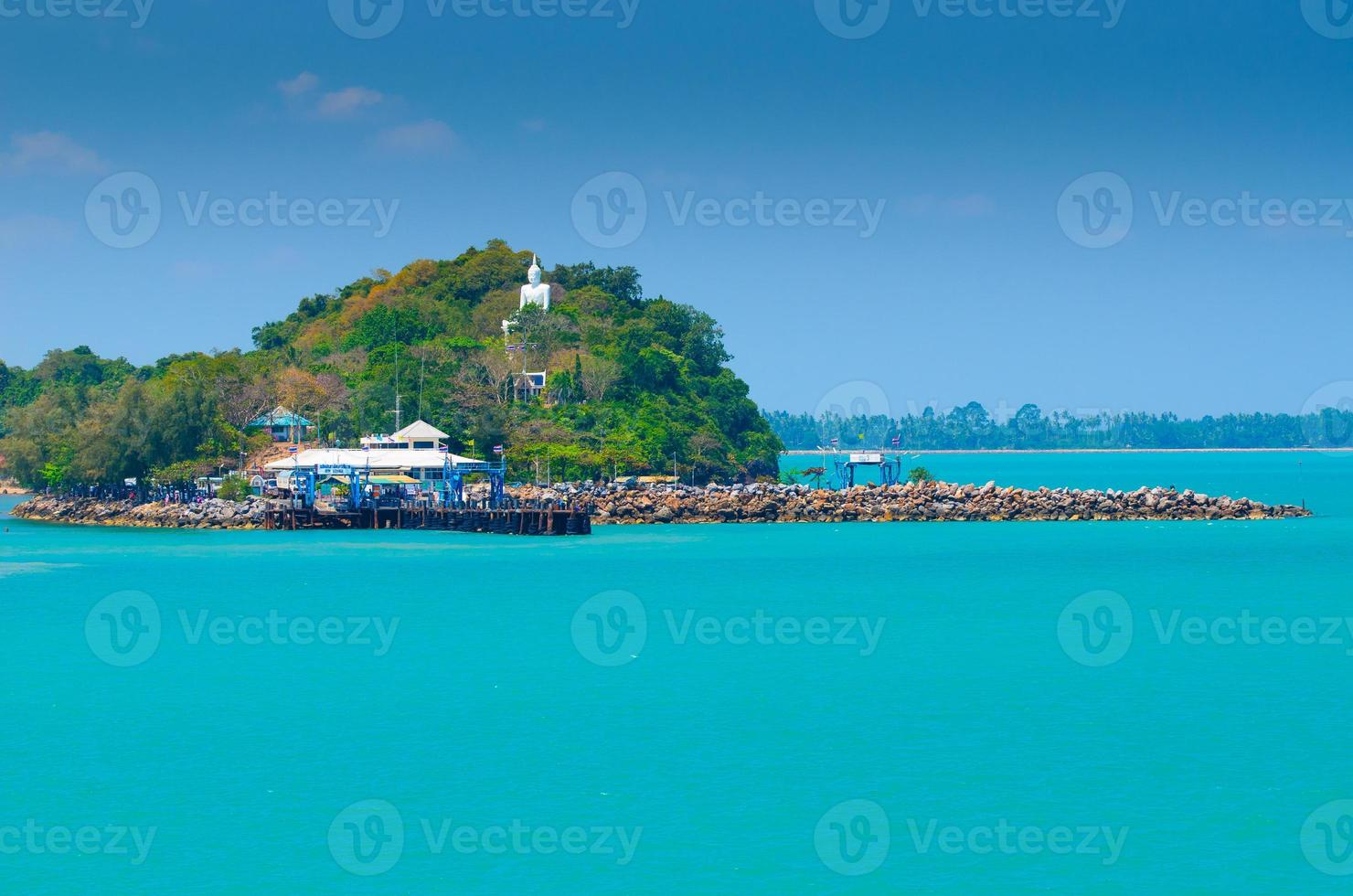 ferry habor em surat tha ni, tailândia foto