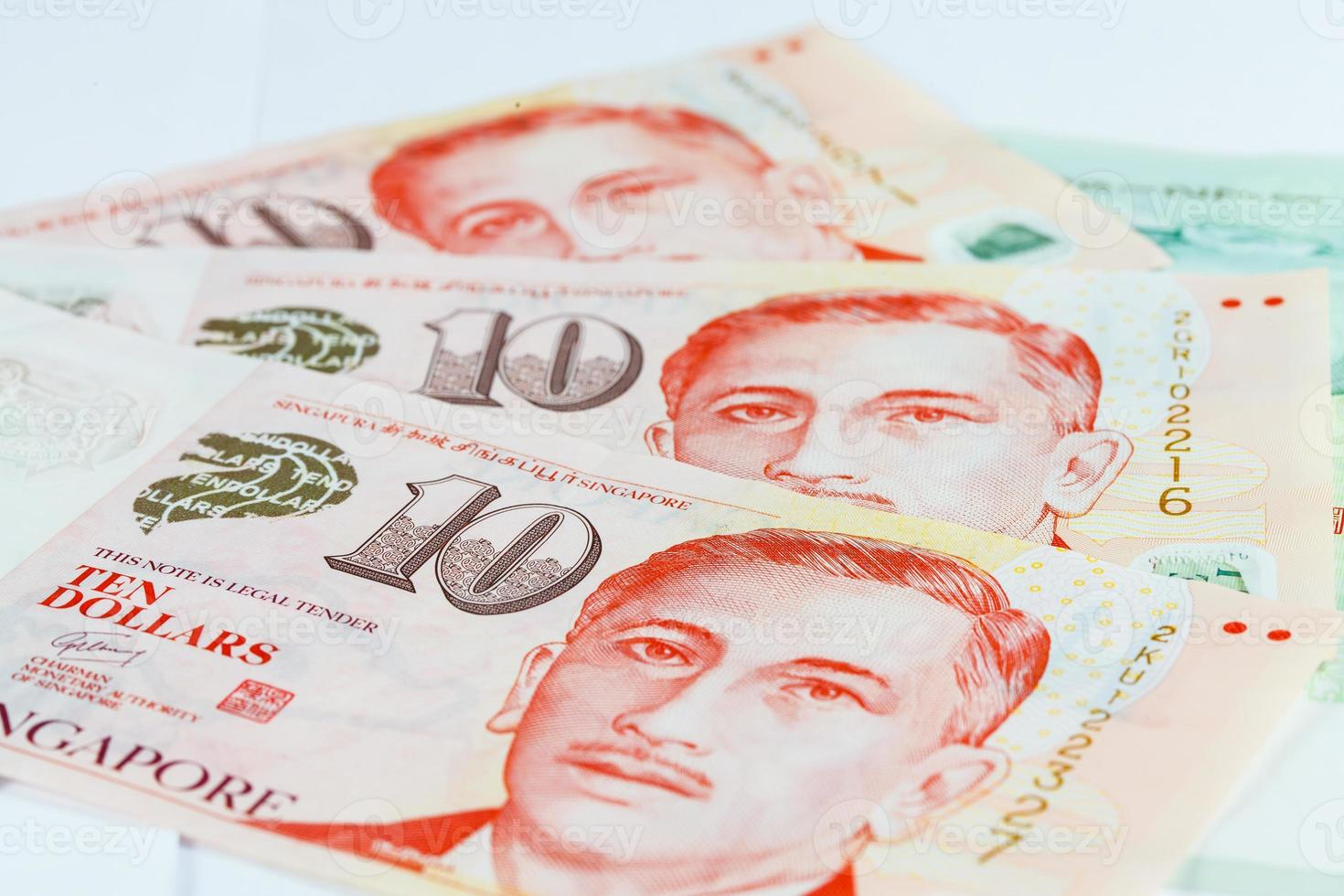 nota de dólares de cingapura foto