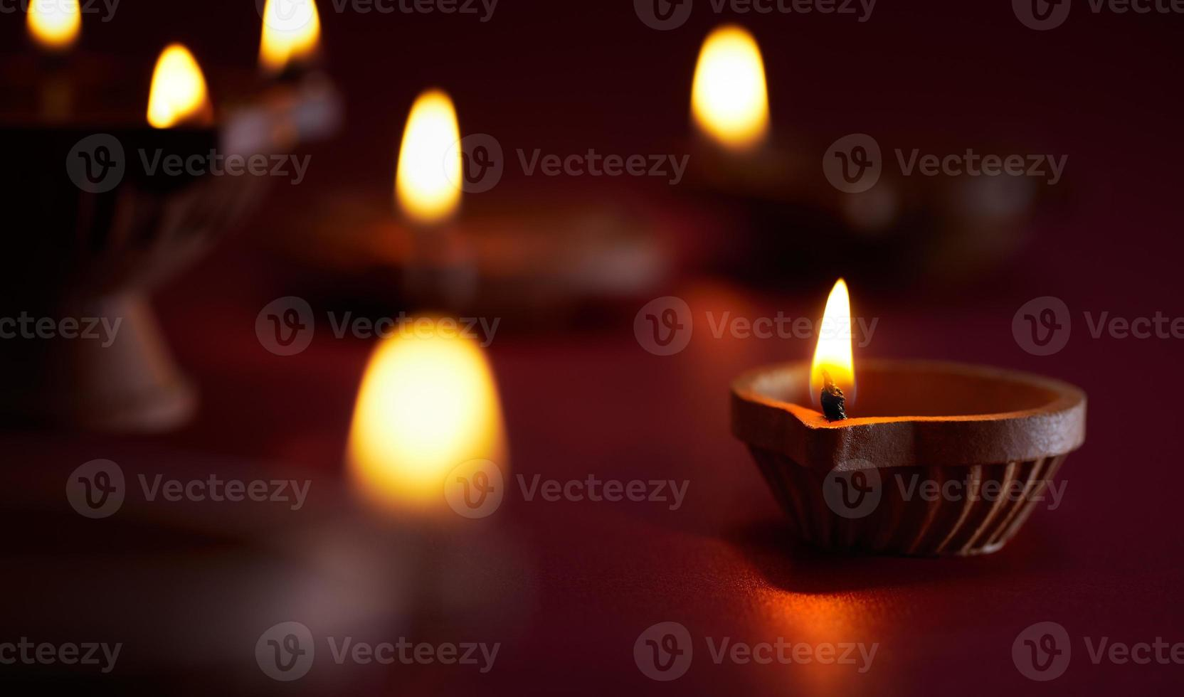 lâmpada de óleo de diwali foto
