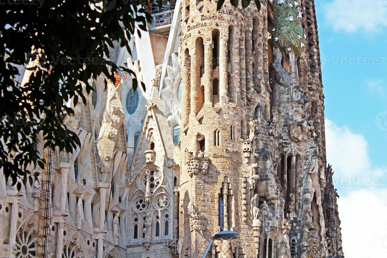 sagrada familia em barcelona. foto