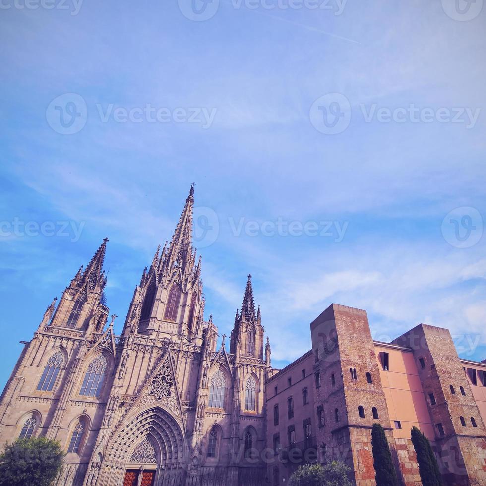 catedral em barcelona foto