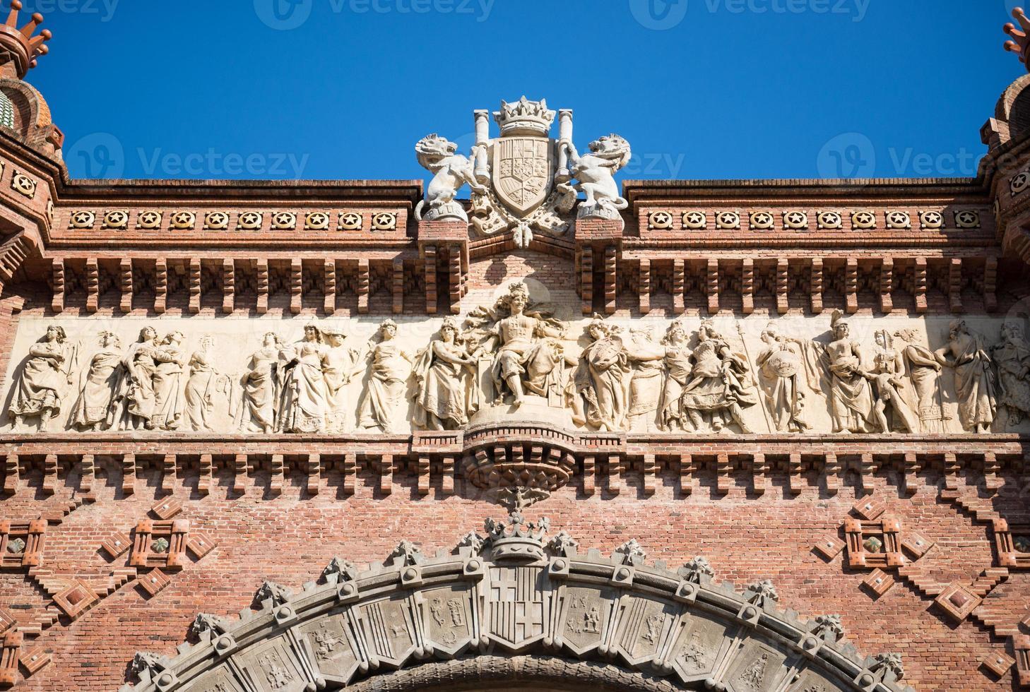arco do triunfo em barcelona foto