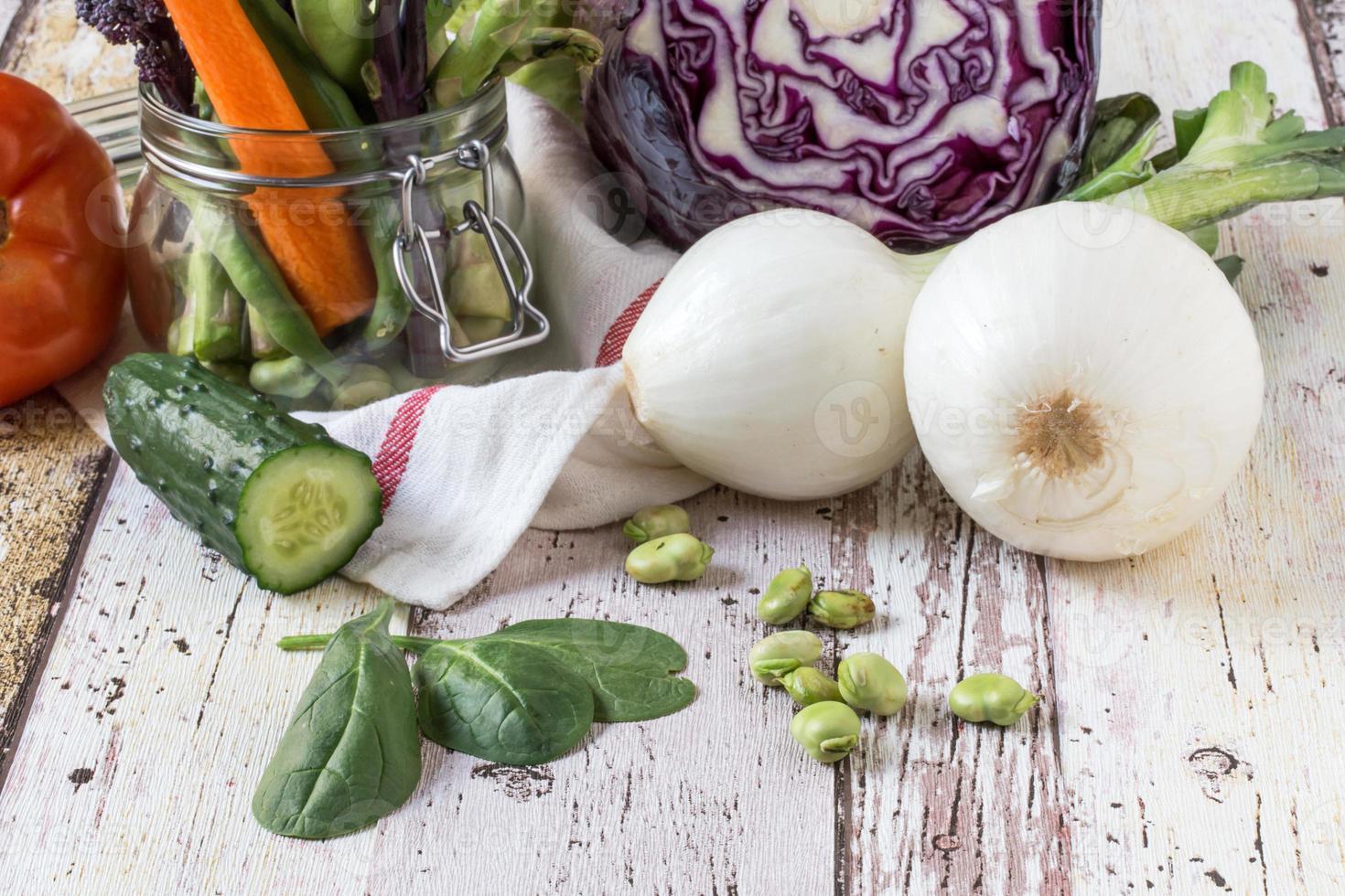 alimentação saudável legumes frescos foto