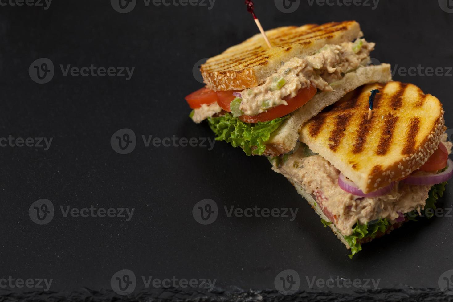 sanduíche de atum panini foto