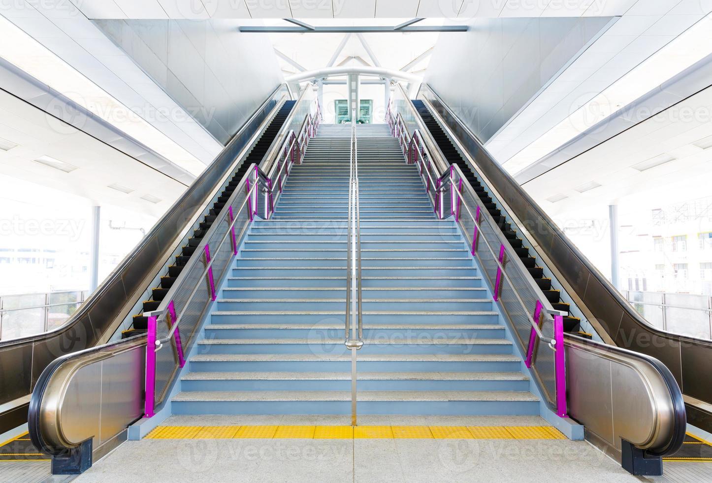 escada rolante e escadas foto